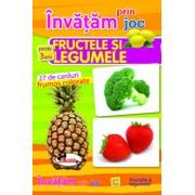 Invatam prin joc fructele si legumele - 27 carduri, ed a 2-a. Carti de joc educative/***