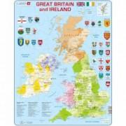 Puzzle Harta Politica a Marii Britanii si a Irlandei EN 48 piese Larsen LRK18 B39016693