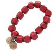 Simbi Clay Bracelet Red