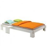 IDIMEX Lit futon en pin LUIS, 120 x 200 cm, lasuré blanc