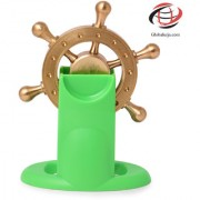 Globalurja Lucky Wheel for Office Desk(Pragati Chakram) with Green Stand