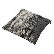 QAZQA Vintage Square Pillow Faded Black 45x45cm - Kochi