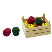 Fa játék zöldség, paprika