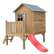 Drevený záhradný domček pre deti TOM + šmýkalka
