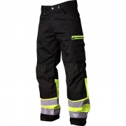 Vidar Workwear V500551D120 Midjebyxa gul/svart D120