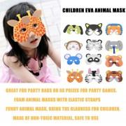 ER 12pcs/Set EVA Divertidos Dibujos Animados Los Niños Máscaras De Animales Dress Up Parte Suministros