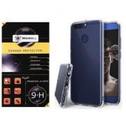 BrainBell HONOR 8 PRO PREMIUM COMBO PACK OF TEMPERED GLASS SCREEN GUARD AND TRANSPARENT CASE