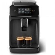 Philips Автоматична еспресо машина 1200 series 2 напитки, Сензорен дисплей, цвят Черно