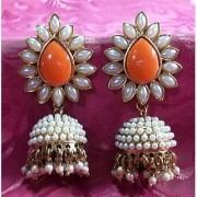 Aashiqui 2 earrings orange polki pearls jhumka earrings