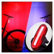 Aqy-096 IPX4 USB Desmontable Recargable De Doble Color LED Bicicleta Luz Trasera (azul Y Rojo)