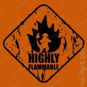 T-shirt Charmander Flammable