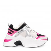 Naked Wolfe Sneaker Naked Wolfe Track in pelle fucsia e tessuto