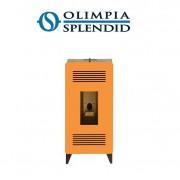 Olimpia Splendid Stufa A Pellet Olimpia Splendid Mia Stile 11 Kw - 140 Mq Colore Arancio