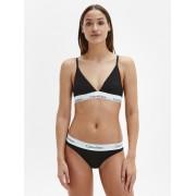 Calvin Černé kalhotky Calvin Klein s bílou širokou gumou Bikini Slip