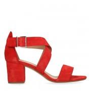 Manfield Rode sandalen met hak