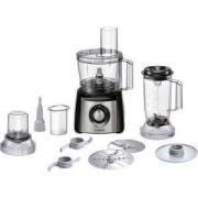 Кухненски робот Bosch, 800 W, блендер, Функция надробяване, Приставка за тесто, черен/сив, MCM3501M
