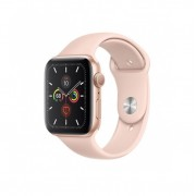 Watch, Apple Series 5 GPS, 40mm Gold Aluminium Case with Pink Sand Sport Band (MWV72WB/A)