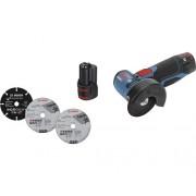 Polizor unghiular cu acumulator Bosch Professional GWS12-76V-EC-Li 12V 76mm, 2 acumulatori, incl. 3 discuri