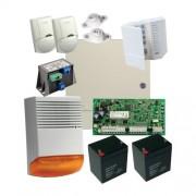 Kit alarma la efractie DSC cu sirena exterioara