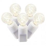 Vickerman 50Unidades Solo Molde G12Berry Juego de Luces LED con Cable Blanco, Blanco cálido