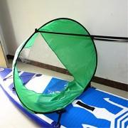 """ELECTROPRIME 46"""" Green Kayak Sail Wind Paddle - Instant Sail Kit - Easy Kayaking Sailing"""