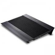 Охлаждаща подложка за лаптоп до 17 инча DeepCool N8, 2 х 140 мм вентилатора, USB - 4 бр, черен, DP-N8-BK_VZ