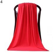 Gilroy 80 x 180 cm, microfibra de Exra ducha camping de viaje suave toalla absorbente toallas de baño Hoja muy grande, Rojo
