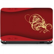VI Collections Invitation Card Design With Golden Flower Printed Vinyl Laptop Decal 15.5