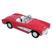 Die Cast 1957 Chevrolet Corvette Car 1:34 scale - Available in Red Black or Blue - Only one included