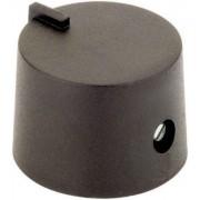 Buton rotativ, Ø ax 6 mm, 21/6 mm, negru