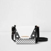 River Island Zwarte kleine crossbodytas met stippen voor meisjes