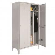 VESTIAR METALIC CU PICIOARE SI 2 USI, perete despartitor 214/02AL, 1000x500x1800 mm (LxlxH), Italia