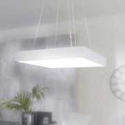 LED Büroleuchte in Silber Metall