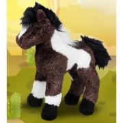 Pluche paarden bruin/wit gevlekt 23 cm