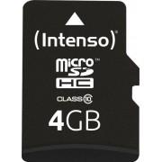 Card de memorie Intenso 4GB Micro SDHC Clasa 10 + Adaptor SD
