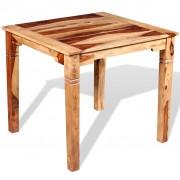 vidaXL Masă de bucătărie, lemn masiv sheesham, 82 x 80 x 76 cm