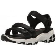 Skechers Cali Women's D'Lites-Fresh Catch Wedge Sandal, Black, 8 M US