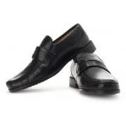 Clarks Aston Mind Genuine Leather Slip On Shoes For Men(Black)