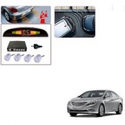 Auto Addict Car Silver Reverse Parking Sensor With LED Display For Hyundai Sonata