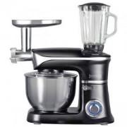 Кухненски робот 3в1 Royalty Line RL-PKM1900.7BG, 1900W, 6,5 литра, Блендер, Миксер, Месомелачка, Черен