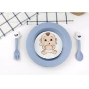 Set servirea mesei Baby - culoarea albastru