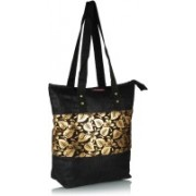 Home Heart Girls Gold, Black Tote