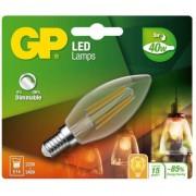 Filamentoasa Mini LED Candle E14 5W 470lm, reglarea intensitatii luminoase (472107)