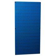 """Wall Control 30-P-3216 BU 32"""" x 16"""" Blue Metal Pegboard Tool Board Panel"""