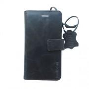 Radicover Mobilcover Iphone 5/5 SE sort Flipside, exclusive 2-in-1, ægte læder, gedeskin - 1 Stk