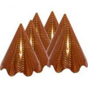 Party hullámos kalap (Hologramos)arany, 6 db/cs