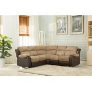 Montana Jumbo Cord Reclining Corner Sofa - Brown or Grey - Brown
