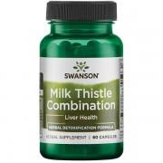 Swanson Ostropestřec Mariánský + 5 bylin (Milk Thistle Combination) 60 kapslí