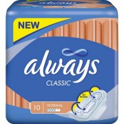 Always Classic Normal With Wings 10 pcs Pads