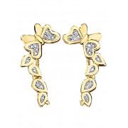 KLiNGEL Boucles d'oreilles 'Papillon' KLiNGEL Coloris or jaune
